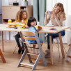 KinderKraft Enock Chaise haute évolutive en bois