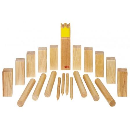 Kubb, jeu de vikings en bois grand modèle