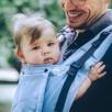 Limas Flex Sky porte bébé physiologique en coton bio