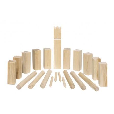 Kubb, jeu d'échecs viking en bois en petit format