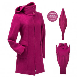 Mamalila babywearing - Hooded coat Berry