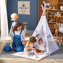 Kinderkraft Tippy tapis d'éveil avec tente tipi