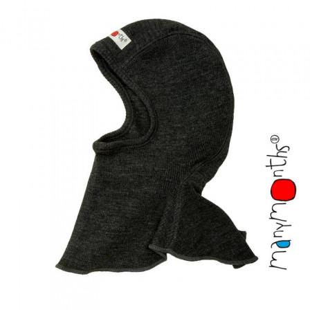 Manymonths Foggy Black Cagoule pure laine mérinos