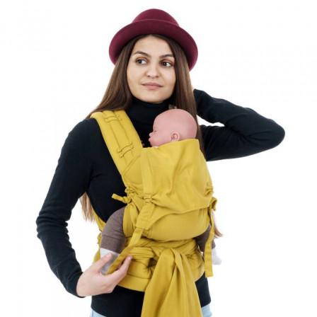 Fidella Fly Tai BIO Chevron Jaune Moutarde taille bébé meï-taï