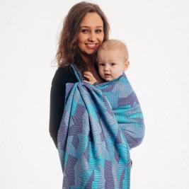 Lennylamb Prism Blue Ray - baby wrap M 4.6.m