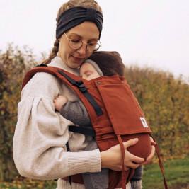Limas Flex Rusty Red porte bébé physiologique en coton bio