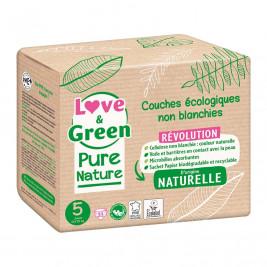 Pure Nature Couches certifiées Ecolabel et hypoallergéniques T5 x 33