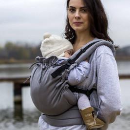 Kinder Hop Multi Soft Little Herringbone Grey adjustable baby carrier