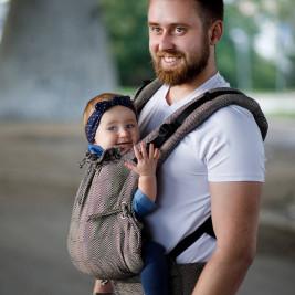 Kinder Hop Multi Soft Mystic Gold adjustable baby carrier