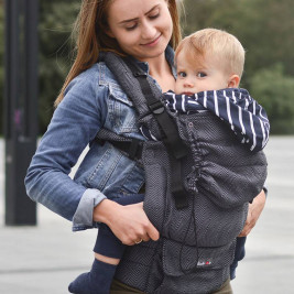 Kinder Hop Multi Grow Carrier Diamond Graphite adjustable baby carrier