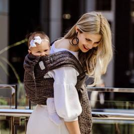 Fidella Flyclick Mosaic Brun Mocha - Porte-bébé hybride Taille bébé