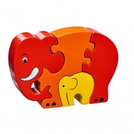 Puzzle éléphant et bébé en bois Lanka Kade