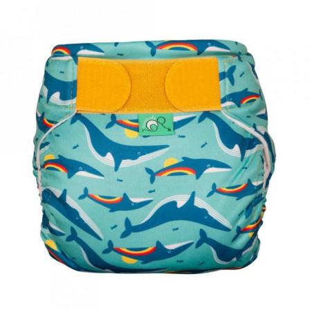 Totsbots Swim Nappy Rainbow Whale - Maillot de bain couche lavable