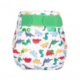 Totsbots Peenut Dino March fitted diaper cover size 1