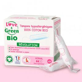 Love & Green BIO Tampons digitaux «Normal» Hypoallergéniques X 16