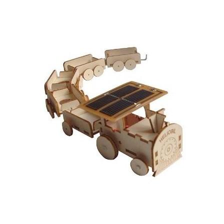 As a wooden model train solar Héliobil