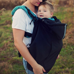 Little Frog Baby Cover Softshell - Noir