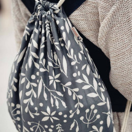 Limas sac à cordon – Flora Cool Grey