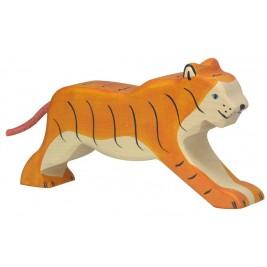Tigre marchant en bois Holztiger