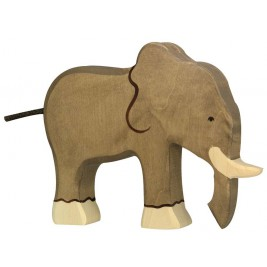 Eléphant en bois Holztiger