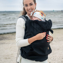Cover for baby carrier/wrap - Softshell Black Lennylamb