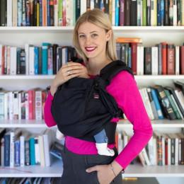 Emeibaby Easy Babysize Noir Uni - porte-bébé physiologique dès la naissance