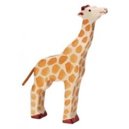 Girafe tête haute en bois Holztiger