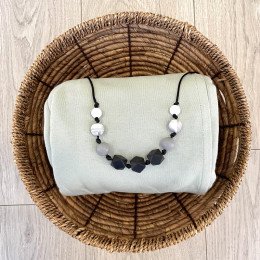 Love And Carry Monochrome Silicone Teething necklace