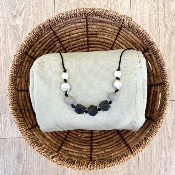 Love And Carry Monochrome Collier de portage en silicone alimentaire