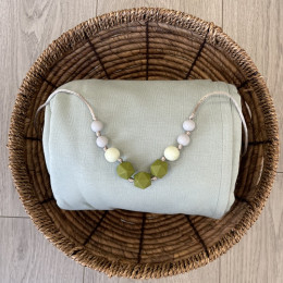 Love And Carry Olive Silicone Teething necklace