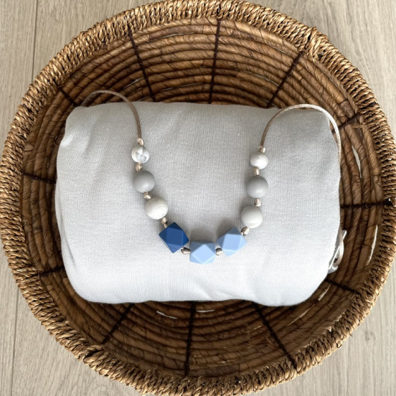Love And Carry Sky Collier de portage en silicone alimentaire