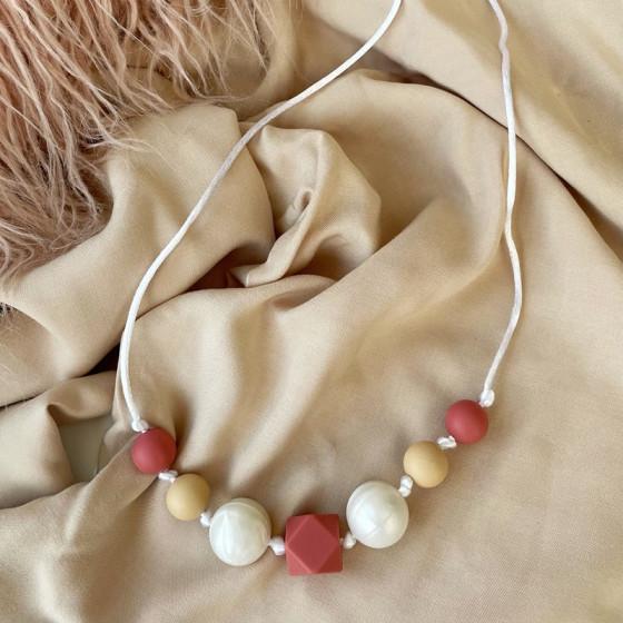 Collier de portage Pearl en silicone alimentaire