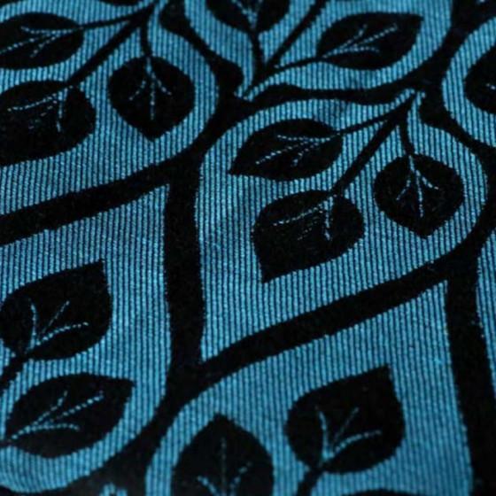 Yaro Slings La Vita Blue-Black Linen - Ring Sling