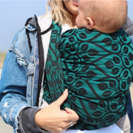 Yaro Slings La Vita Emerald-Black - Écharpe de portage tissée