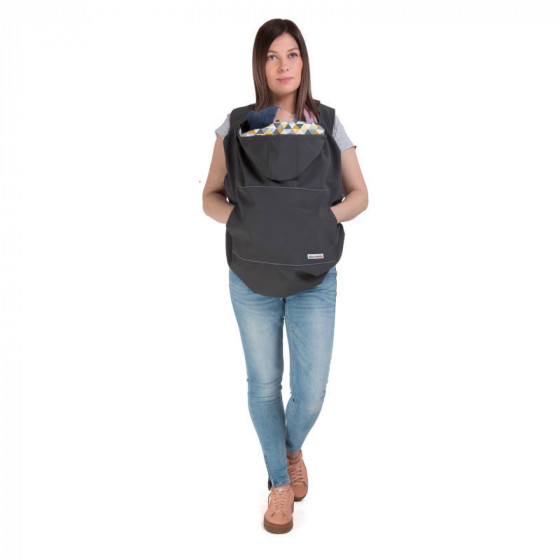 Naturiou babywearing cover Softshell Graphite 3-in-1