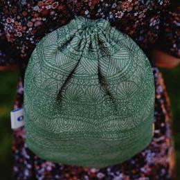 Little Frog drawstring bag Green linen Harmony