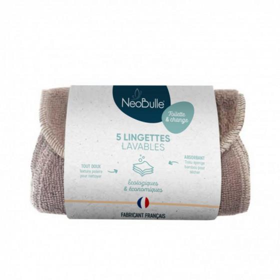 Lingettes lavables Néobulle Pack 5