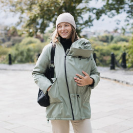 Love and Carry Coat babywearing and pregnancy V2 Black
