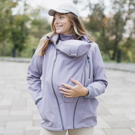 Love and Carry Veste 4 en 1 de Portage et de Grossesse Softshell Lavender grossesse