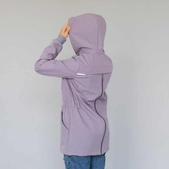 Love and Carry Veste 4 en 1 de Portage et de Grossesse Softshell Lavender zip dans le dos pour le portage dorsale