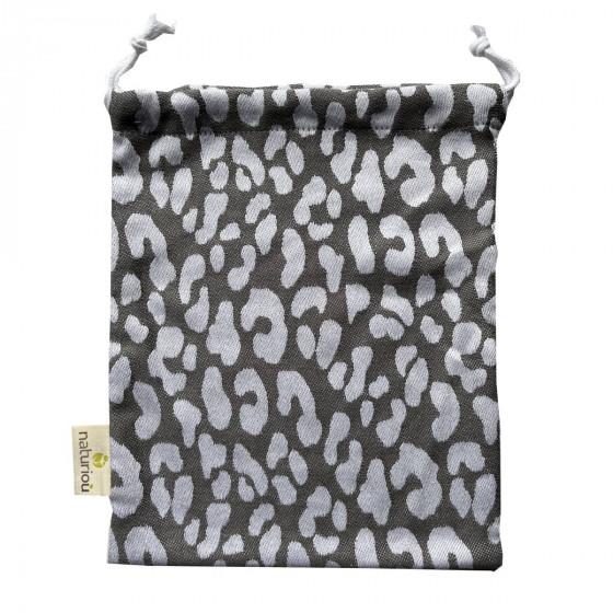 Naturioù Leopard - Sac à cordon en bambou tissu jacquard