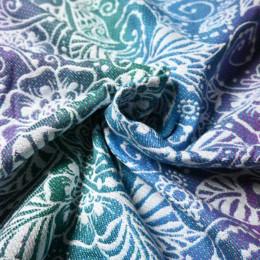Yaro Slings Ava Trinity Peacock Rainbow Tencel - Ring Sling