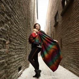Yaro Slings Moonkeeper Dreams Rainbow Wool - Ring Sling