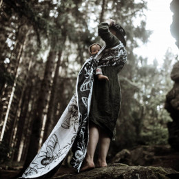Yaro Slings Dorcus Trinity Black White - Ring Sling