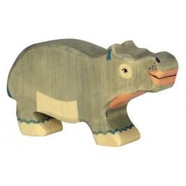 Petit Hippopotame en bois Holztiger