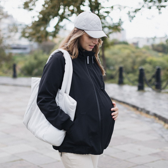 Love and Carry Veste 4 en 1 de Portage et de Grossesse Softshell Noir insert fourni pour la grossesse