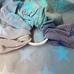 Yaro Slings Stars Aqua Grad Grey - Ring Sling
