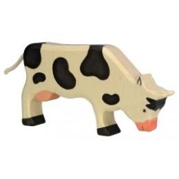 Vache  debout  noire Holztiger