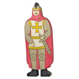 Chevalier avec manteau rouge Holztiger