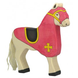 Cheval de course rouge Holztiger